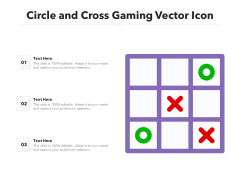 Circle And Cross Gaming Vector Icon Ppt PowerPoint Presentation Ideas Clipart PDF