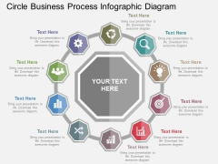 Circle Business Process Infographic Diagram Powerpoint Templates