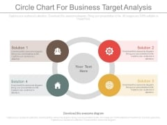 Circle Chart To Outline Marketing Plan Powerpoint Template