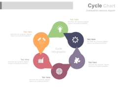 Circle Chart With Business Planning Icons Powerpoint Slides