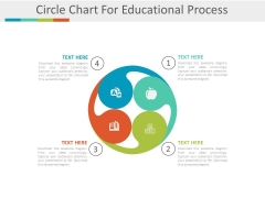 Circle Chart With Educational Icons Powerpoint Template
