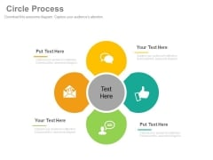 Circle Diagram For Business Communication Powerpoint Template
