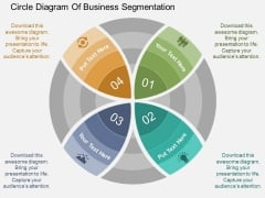 Circle Diagram Of Business Segmentation Powerpoint Template