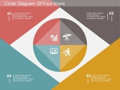 Circle Diagram Of Four Icons Powerpoint Template