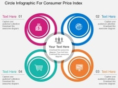Circle Infographic For Consumer Price Index Powerpoint Template
