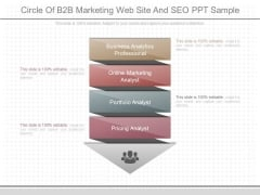 Circle Of B2b Marketing Web Site And Seo Ppt Sample