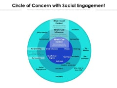 Circle Of Concern With Social Engagement Ppt PowerPoint Presentation File Deck PDF