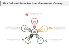 Circle Of Idea Bulbs With Icons Powerpoint Slides