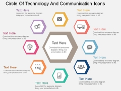 Circle Of Technology And Communication Icons Powerpoint Template