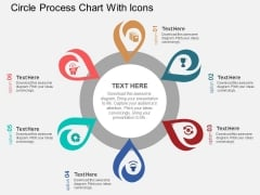 Circle Process Chart With Icons Powerpoint Template