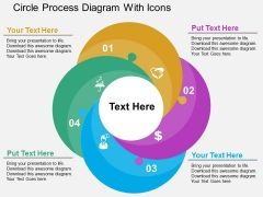 Circle Process Diagram With Icons Powerpoint Templates