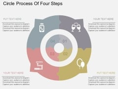 Circle Process Of Four Steps Powerpoint Templates