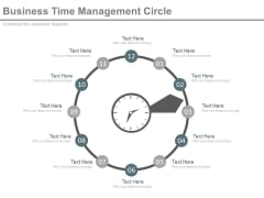Circle Steps For Time Management And Planning Powerpoint Slides