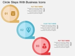 Circle Steps With Business Icons Powerpoint Templates