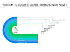 Circle With Five Sections For Business Promotion Campaign Analysis Ppt PowerPoint Presentation Gallery Guidelines PDF