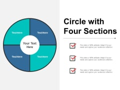 Circle With Four Sections Ppt PowerPoint Presentation Infographics Slides