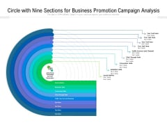 Circle With Nine Sections For Business Promotion Campaign Analysis Ppt PowerPoint Presentation Gallery Examples PDF