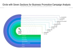 Circle With Seven Sections For Business Promotion Campaign Analysis Ppt PowerPoint Presentation File Graphic Images PDF