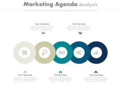 Circles For Marketing Agenda Analysis Powerpoint Slides
