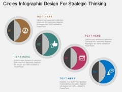 Circles Infographic Design For Strategic Thinking Powerpoint Template
