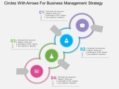 Circles With Arrows For Business Management Strategy Powerpoint Template