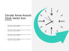 Circular Arrow Around Clock Vector Icon Ppt PowerPoint Presentation Model Background Designs PDF