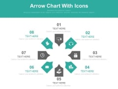 Circular Arrow Chart With Business Icons Powerpoint Slides