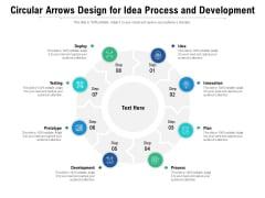 Circular Arrows Design For Idea Process And Development Ppt PowerPoint Presentation File Brochure PDF