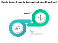 Circular Arrows Design To Business Funding And Investment Ppt PowerPoint Presentation File Outline PDF