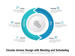 Circular Arrows Design With Meeting And Scheduling Ppt PowerPoint Presentation File Graphics Template PDF