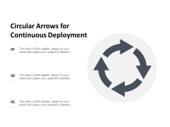 Circular Arrows For Continuous Deployment Ppt PowerPoint Presentation Outline Design Templates