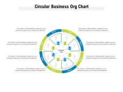 Circular Business Org Chart Ppt PowerPoint Presentation Icon Visual Aids