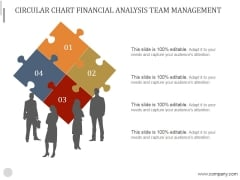 Circular Chart Financial Analysis Team Management Ppt PowerPoint Presentation Guide