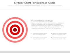Circular Chart For Business Goals Powerpoint Slides