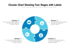 Circular Chart Showing Four Stages With Labels Ppt PowerPoint Presentation Gallery Format Ideas PDF