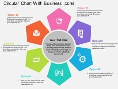 Circular Chart With Business Icons Powerpoint Templates