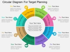 Circular Diagram For Target Planning Powerpoint Template