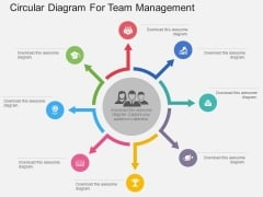 Circular Diagram For Team Management Powerpoint Template