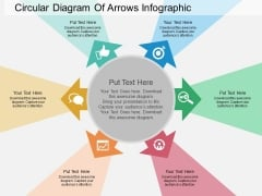 Circular Diagram Of Arrows Infographic Powerpoint Templates