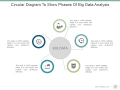 Circular Diagram To Show Phases Of Big Data Analysis Ppt PowerPoint Presentation Infographic Template