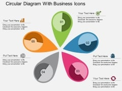 Circular Diagram With Business Icons Powerpoint Templates