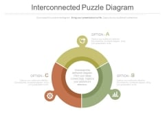 Circular Diagram With Three Sides Powerpoint Slides