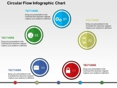 Circular Flow Infographic Chart Powerpoint Templates