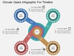 Circular Gears Infographic For Timeline Powerpoint Templates