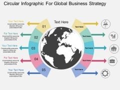 Circular Infographic For Global Business Strategy Powerpoint Template