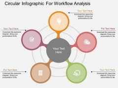 Circular Infographic For Workflow Analysis Powerpoint Templates