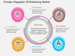 Circular Infographic Of Positioning Market Powerpoint Template