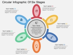 Circular Infographic Of Six Stages Powerpoint Templates