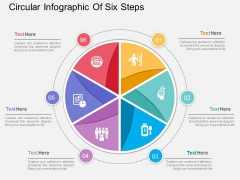 Circular Infographic Of Six Steps Powerpoint Template