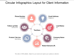 Circular Infographics Layout For Client Information Ppt PowerPoint Presentation Pictures Graphics Tutorials